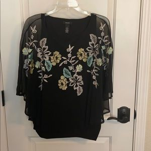Alfani size M flowing shirt with flower detail.